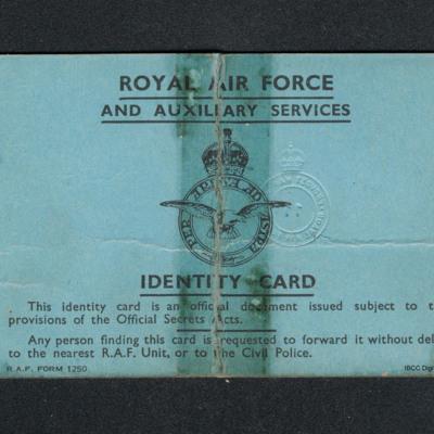 Harry Parkins' identity card