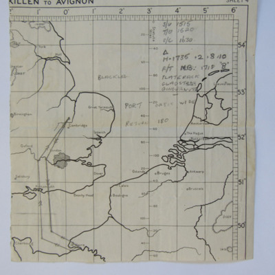 Planning Chart from Mepal to Le Havre