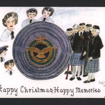 WAAF Association Christmas card