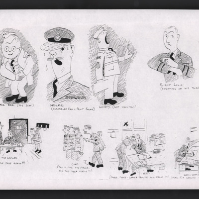 Caricatures of Royal Air Force personnel