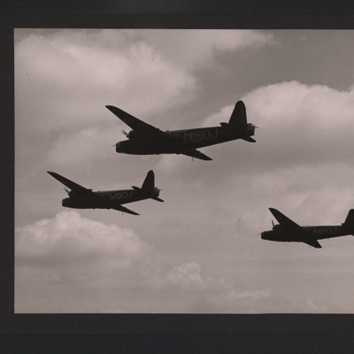 Three Wellingtons in flight