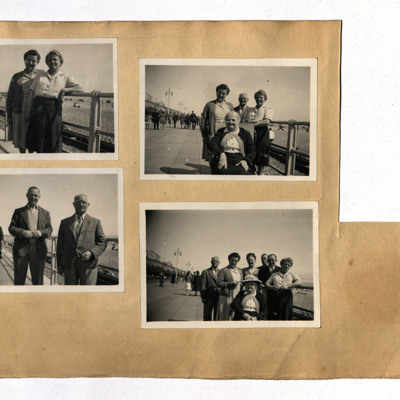 Seaside Photographs of Sam Saunders and family