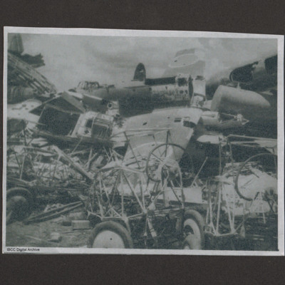 Scrapyard of Japanese aircraft