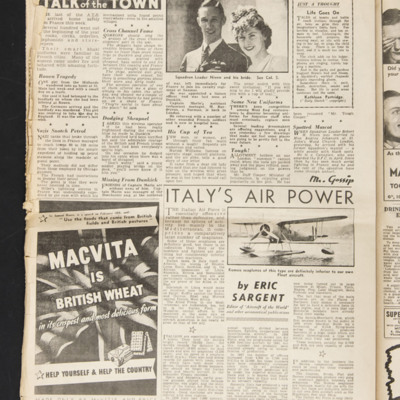 Talk of the town and Italy's air power