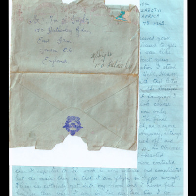 Letter to Mr & Mrs Wright from Arthur Wright
