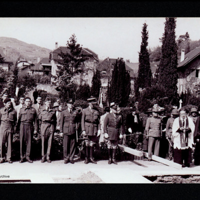 Airmen's funeral at Vevey