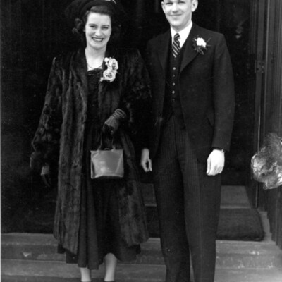 Mary and Don Cameron's wedding