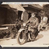 Arthur Atkins astride an Ivory Calthorpe motorbike