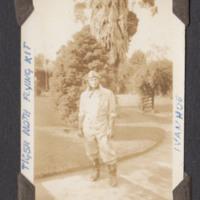 Pilot in garden at Ivanhoe