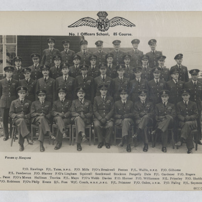 85 Course officers school photograph
