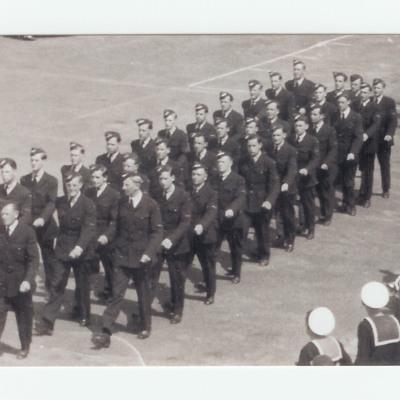 Parade of trainee airmen