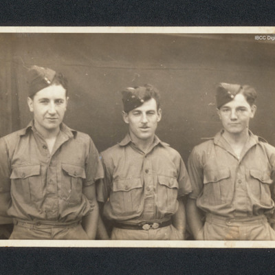 Sergeant Bob Frost and two airmen