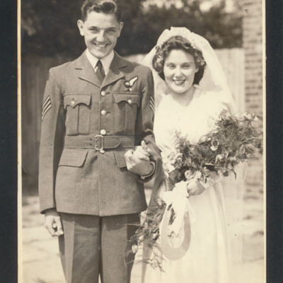 Bob Frost's  wedding to Daphne Mary