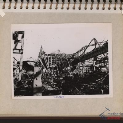 Destroyed industrial workshop