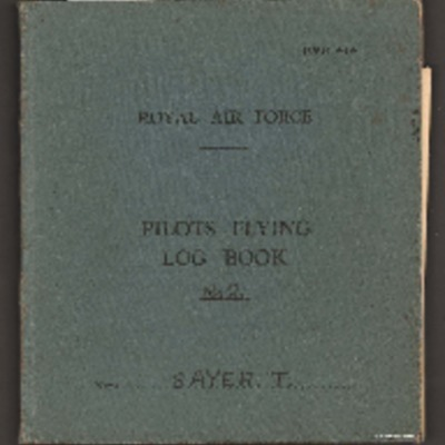 Tom Sayer's pilots flying log book. Book two