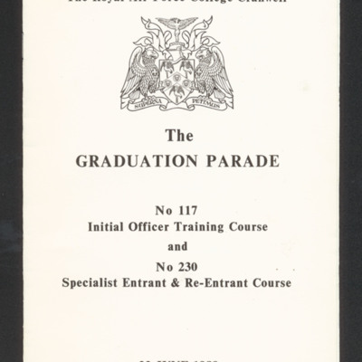 RAF Cranwell Graduation Parade