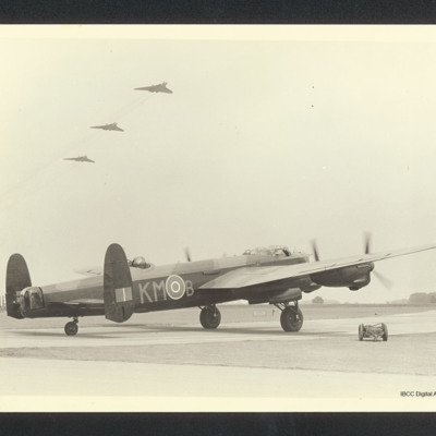 Lancaster and three Vulcans