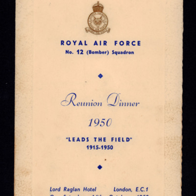No. 12 (Bomber) Squadron Reunion Dinner, 1950