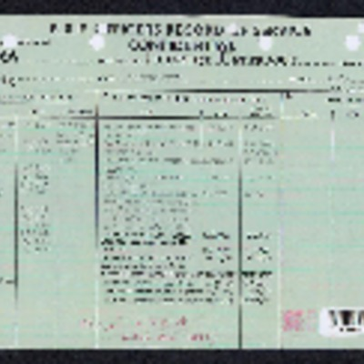 Herbert O'Hara record of service