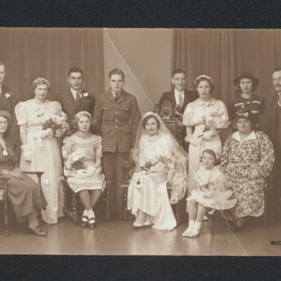 Raymond Norman Percy and Joyce Ellen Foster's wedding