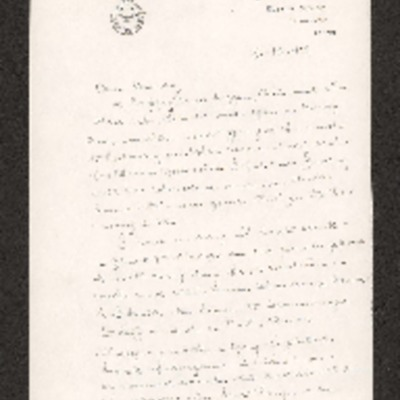Letter from Reg Jaques to a female relative