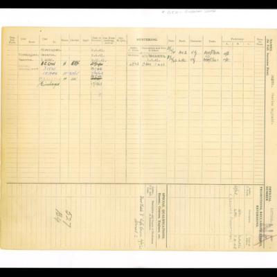 Reg Jaques Royal Air Force airman's personnel document