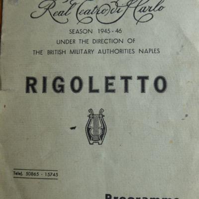 Rigoletto Programme