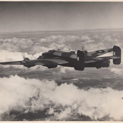 Halifax in flight
