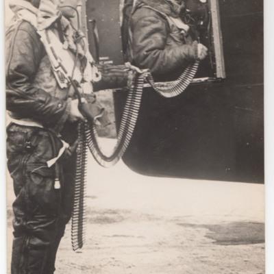 Gunners loading ammunition