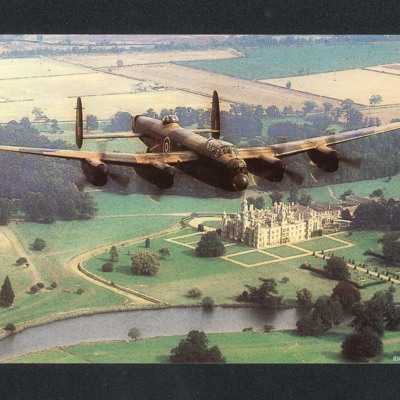 Lancaster over over Burghley House