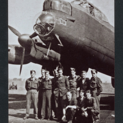 Aircrew and ground personnel and Lancaster