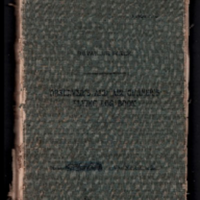 Geoffrey Whittle's observers and air gunners flying log book. One