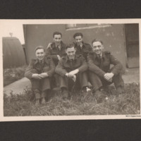 George Bubb with ground crew at RAF Spilsby