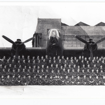 Personnel in front of Halifax