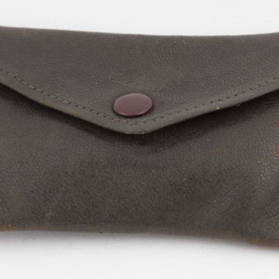 Leather pouch and contents
