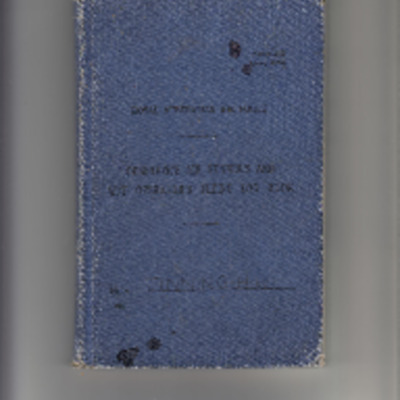 Herbert Tinning's Royal Australian Air Force Observer's Air Gunner's And W/T Operator's Flying Log Book