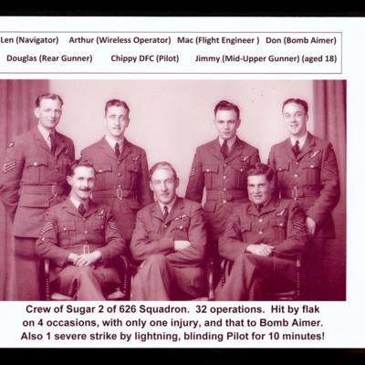 Crew of Sugar 2 of 626 Squadron