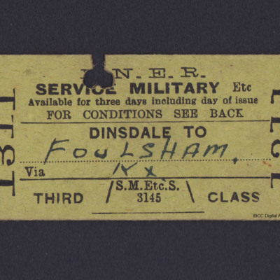 LNER Railway Ticket