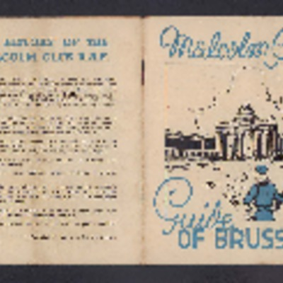 Malcolm Club Guide of Brussels and accommodation ticket