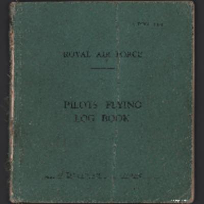 Andrew Deytrikh's pilots flying log book. Two