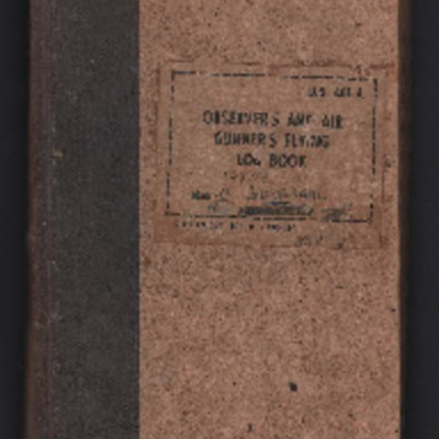 Oliver Gomersal's observer's and air gunner's flying  log book