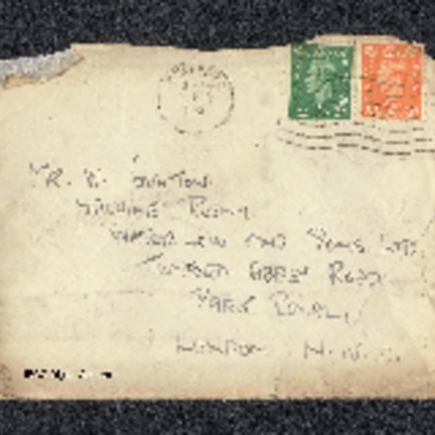 Letter from Peter Lamprey to W Gunton