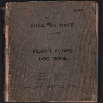 Peter Hattersley's flying log book
