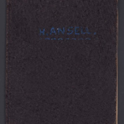 School Report Book of Henry Ansell