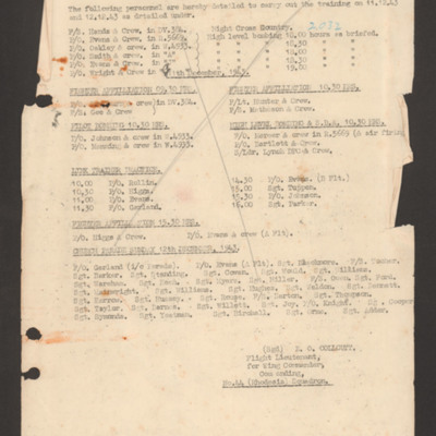 Training programme 11 December 1943