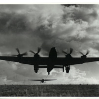 Halifax taking off towing a Horsa glider
