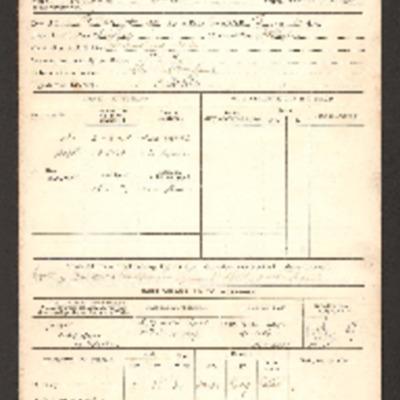 Ernie Twells' Discharge Certificate