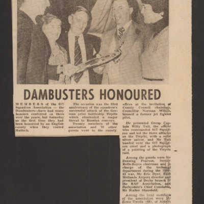Dambusters Honoured