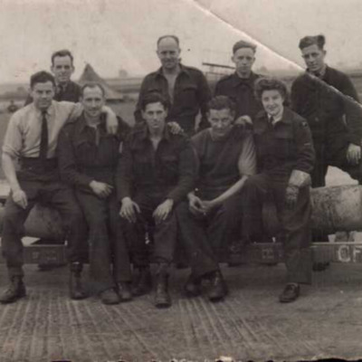 Bessie Birkby and ground crew