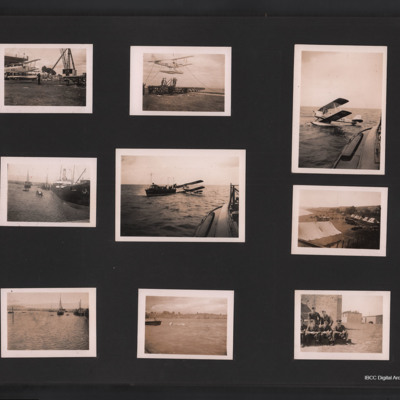 Scenes with DH.82B Queen Bee aircraft, sea scenes and Royal Air Force personnel